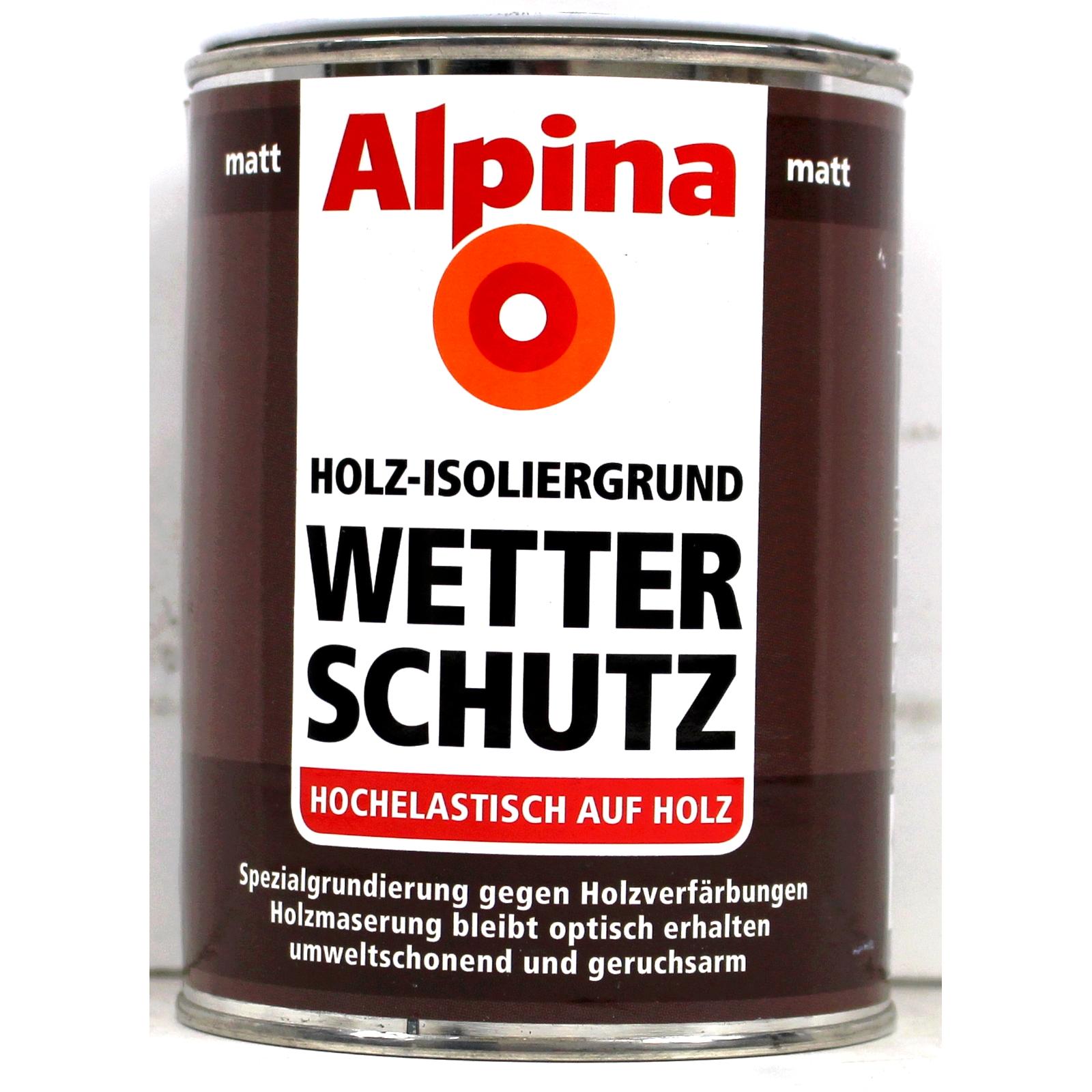 alpina wetterschutz holzisoliergrund weiss matt 1l isoliergrund holzgrund 4260410857496 ebay. Black Bedroom Furniture Sets. Home Design Ideas