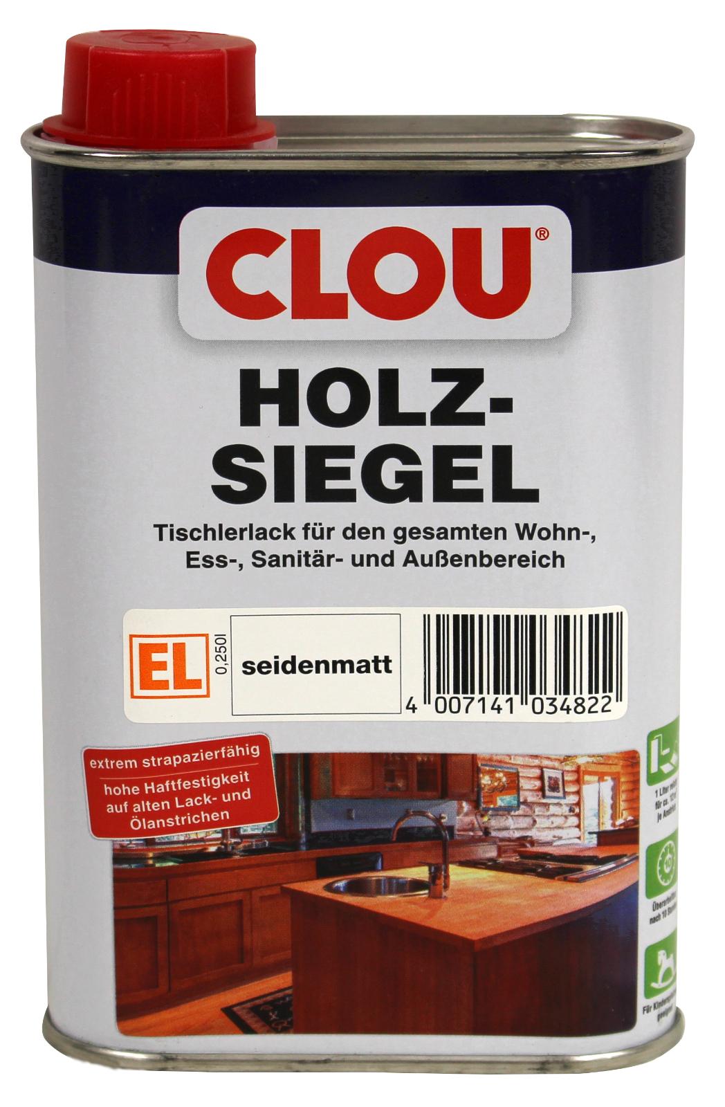 holzsiegel clou universal klarlack seidenmatt 250 ml | ebay