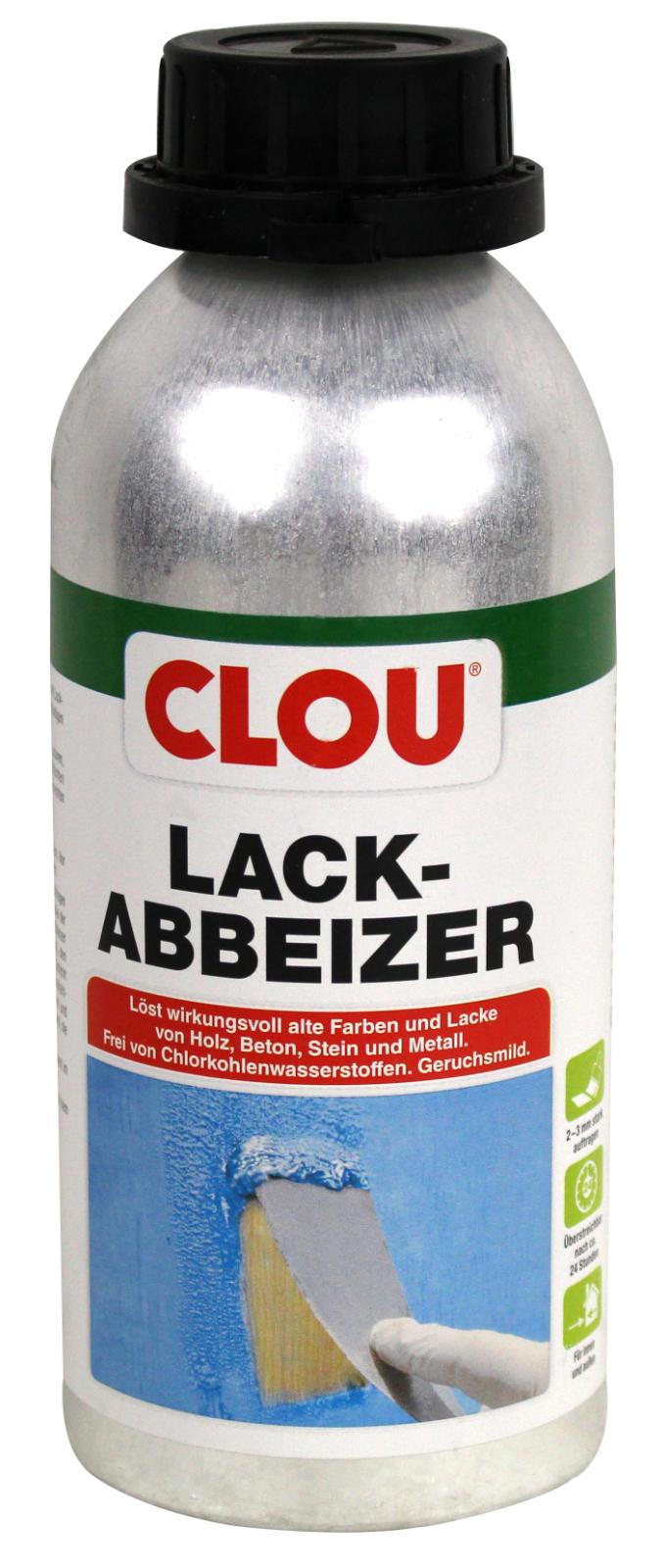 clou lack abbeizer 0,5l entfernt lack und farbe auf holz beton stein