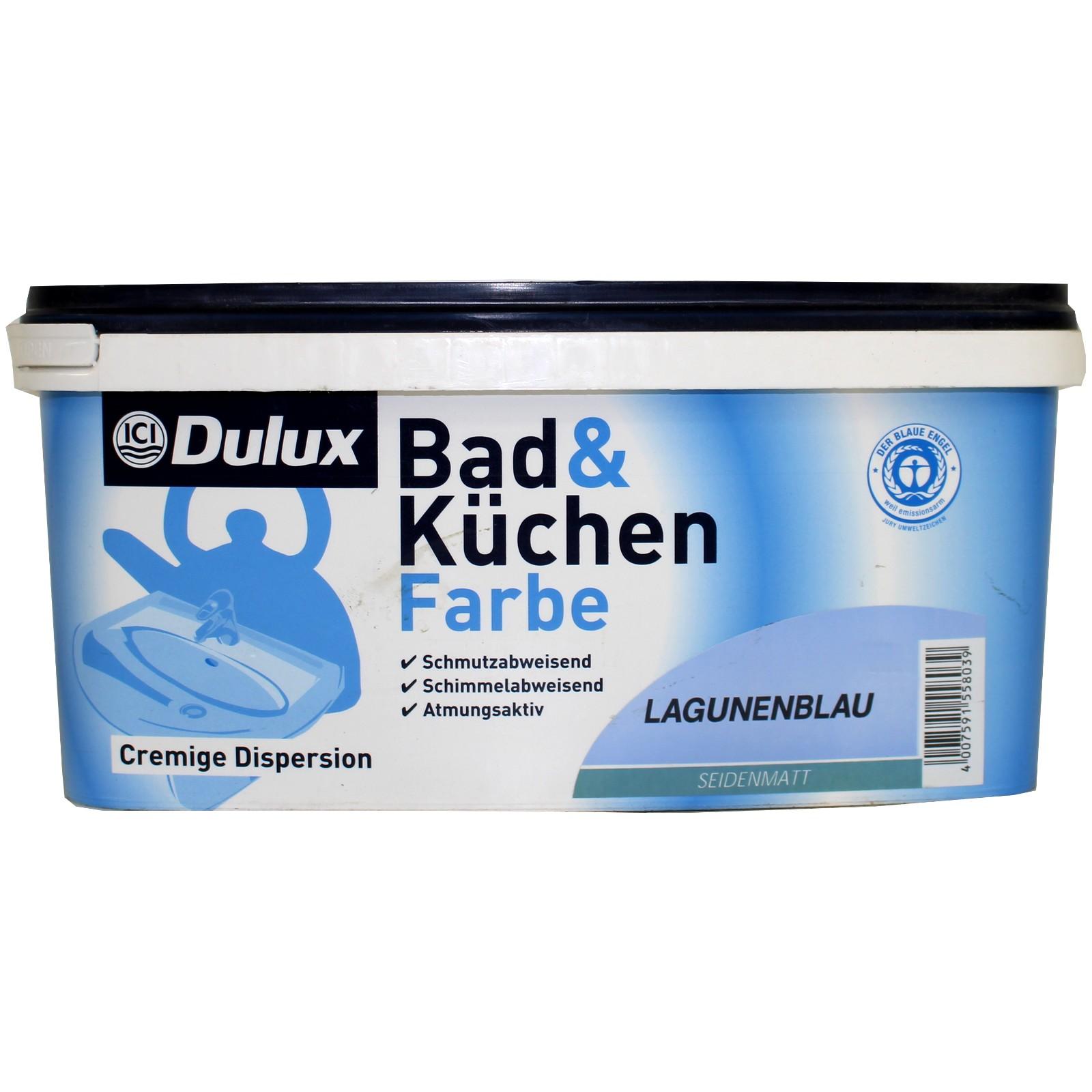 6€/L 2,5L Dulux Bad & Küchen Wandfarbe Badfarbe