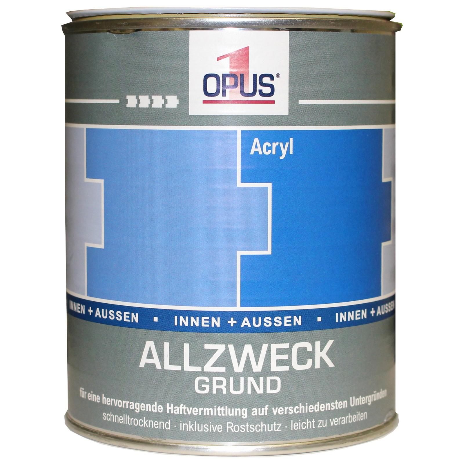 opus1 allzweck grund 0,75l weiss holzgrund allgrund haftgrund
