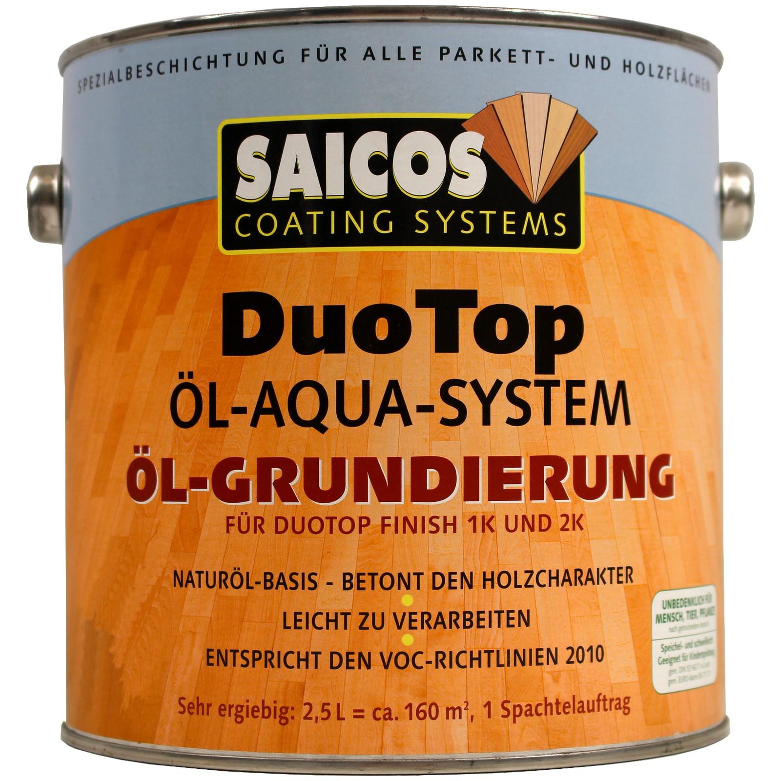 2,5l saicos duotop Öl grundierung weiss holz holzöl holzgrundierung