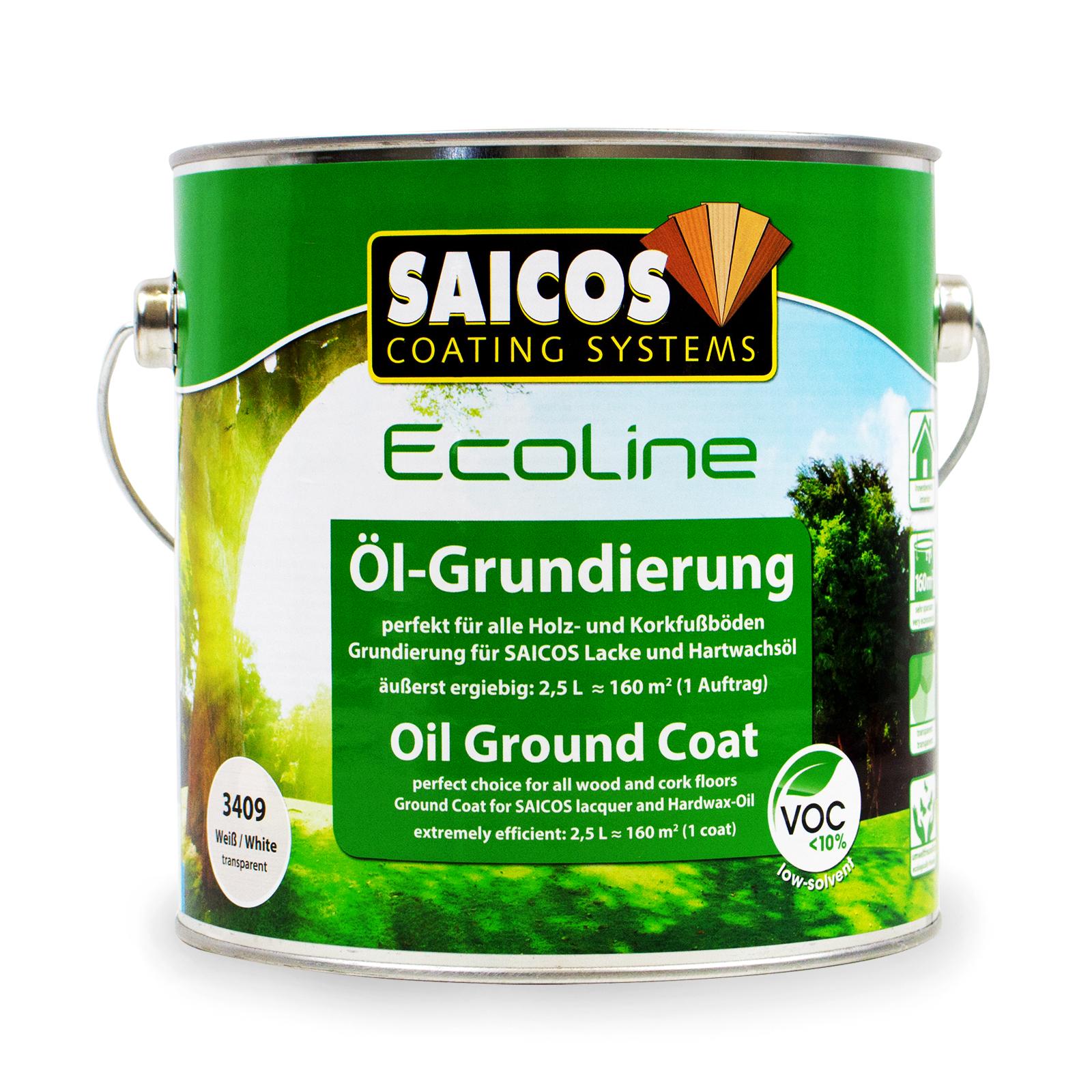 2,5l saicos ecoline Öl-grundierung 3409 weiß holzgrundierung | ebay
