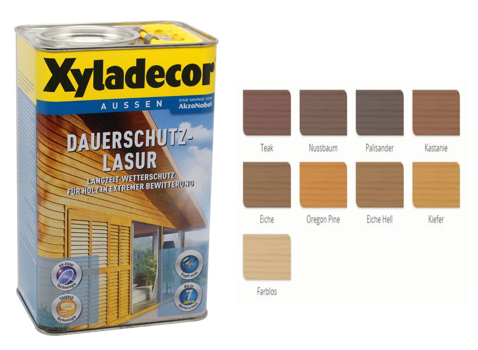 Xyladecor Farben.Details Zu Xyladecor Dauerschutzlasur Holzlasur Farbwahl 4l Beule Holzschutz Lasur
